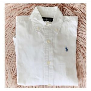 Ralph Lauren Kids Dress Shirt White